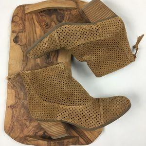 Aerosoles Women's Brown Leather Heel Booties 8.5